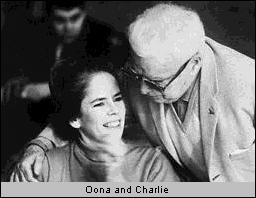 Oona and Charlie Chaplin in 1966